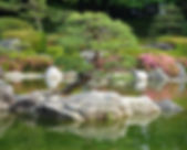 The Ohori Park Japanese Gardens in Fukuoka, Japan