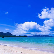 Private beach on Tokashiki Island in Okinawa, Japan during our Island Hopper small group tour of Japan.