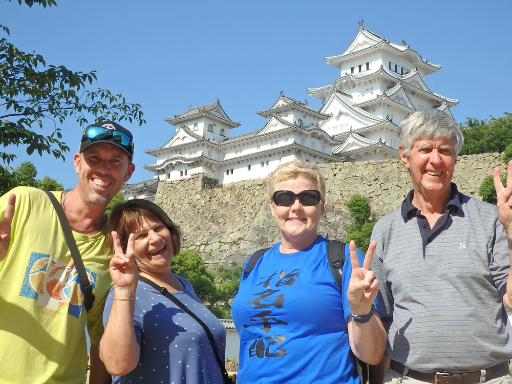 The Classic Japan Tour group in front of Himeji Castle