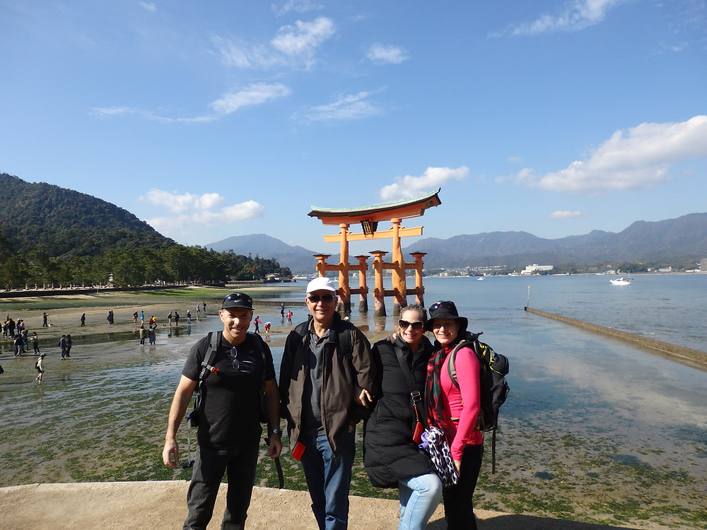 The group on Miyajima Island in Hiroshima