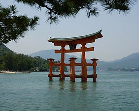 Itsukushima Shrine on Miyajima Island in Hiroshima, Japan