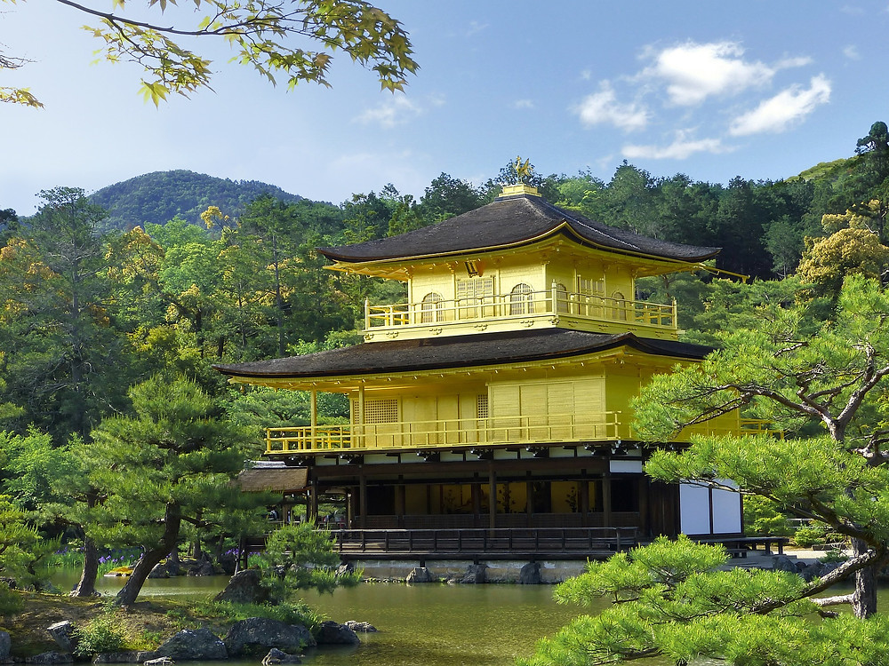 The beautiful Golden Pavilion in Kyoto, Japan