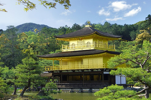The Golden Pavilion in Kyoto, Japan.
