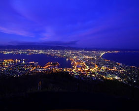 Night view of Hakodate from thetop of Mt Hakodate in Hokkaido, Japan