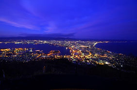 Night view of Hakodate City from the top of Mt Hakodate in Hokkaido, Japan
