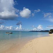 Beautiful Sunset Beach on Ishigaki Island in Okinawa, Japan.