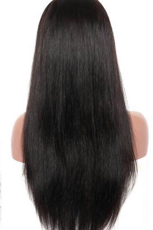 Silk straight Lace frontal wig 150% density