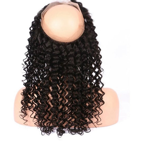 Deep curly 360 Lace frontal