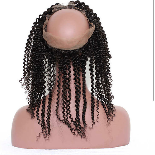 Kinky curl 360 Lace frontal
