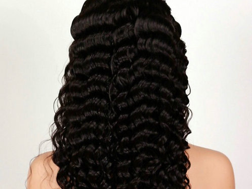 Deep wave Lace frontal wig 150% density