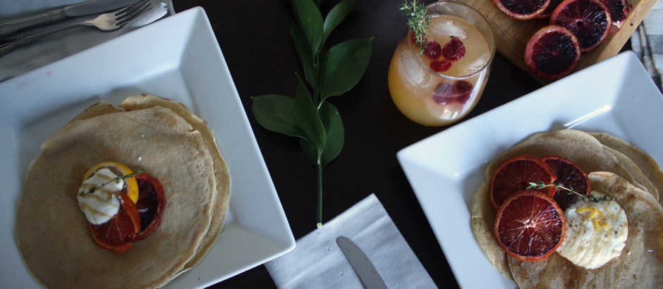 The Market Series: Brule Creek Farms Citrus Crepes with Lemon Whipped Ricotta