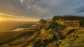 view of the quiraing on isle of skye at