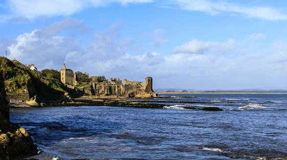St Andrews Castle in scotland