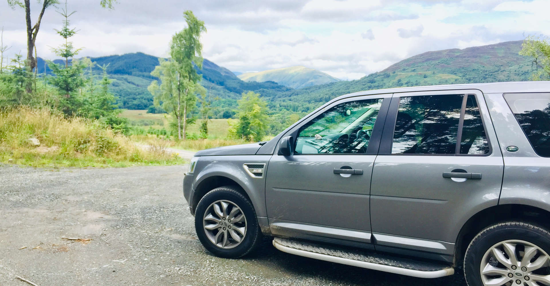 luxury private vehicle off road on loch lomond tour
