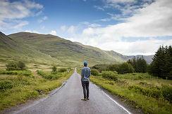 man on luxury private tour i scotland st