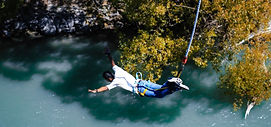 man doing bungee jump in scotland with scotlux tours