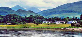 Scenery near Oban scotland with mountain