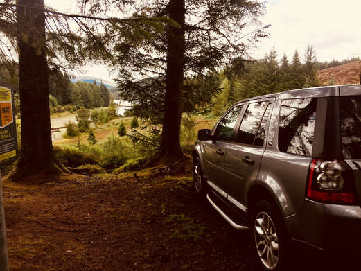 Luxury 4x4 in Forest