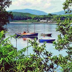 boats in loch oban region scotland