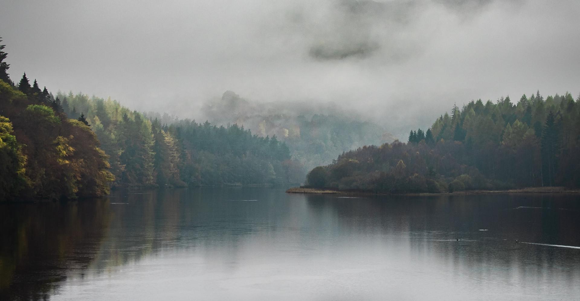 Misty Loch in Perthshire