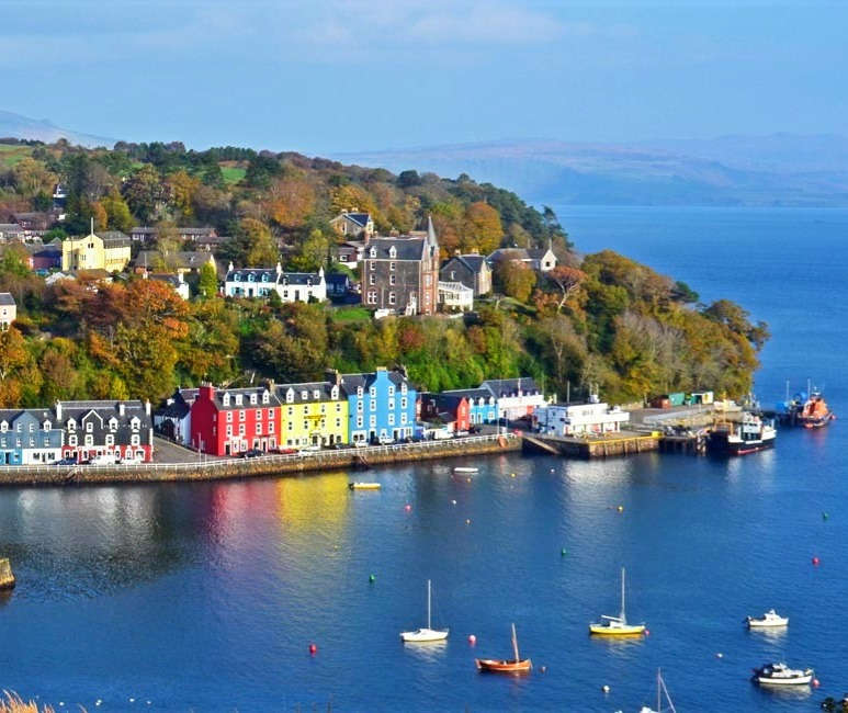 visit Tobermory, Isle of Mull in scotland on a luxury wildlife experience