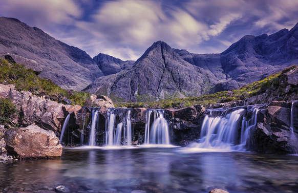 luxury tour to the Fairy Pools, Isle of Skye, Scotland
