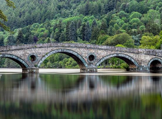 Stone Bridge over the River Tay in scotland
