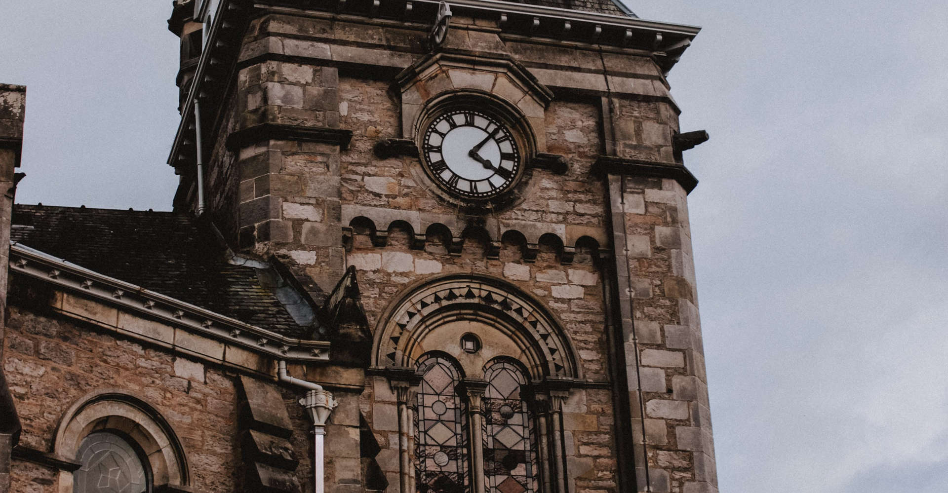 Pitlochry clock tower scotland seen on luxury private tour