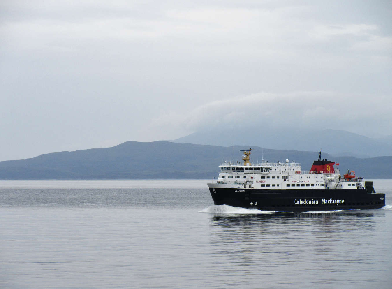 Ferry to Isle of Mull in scotland
