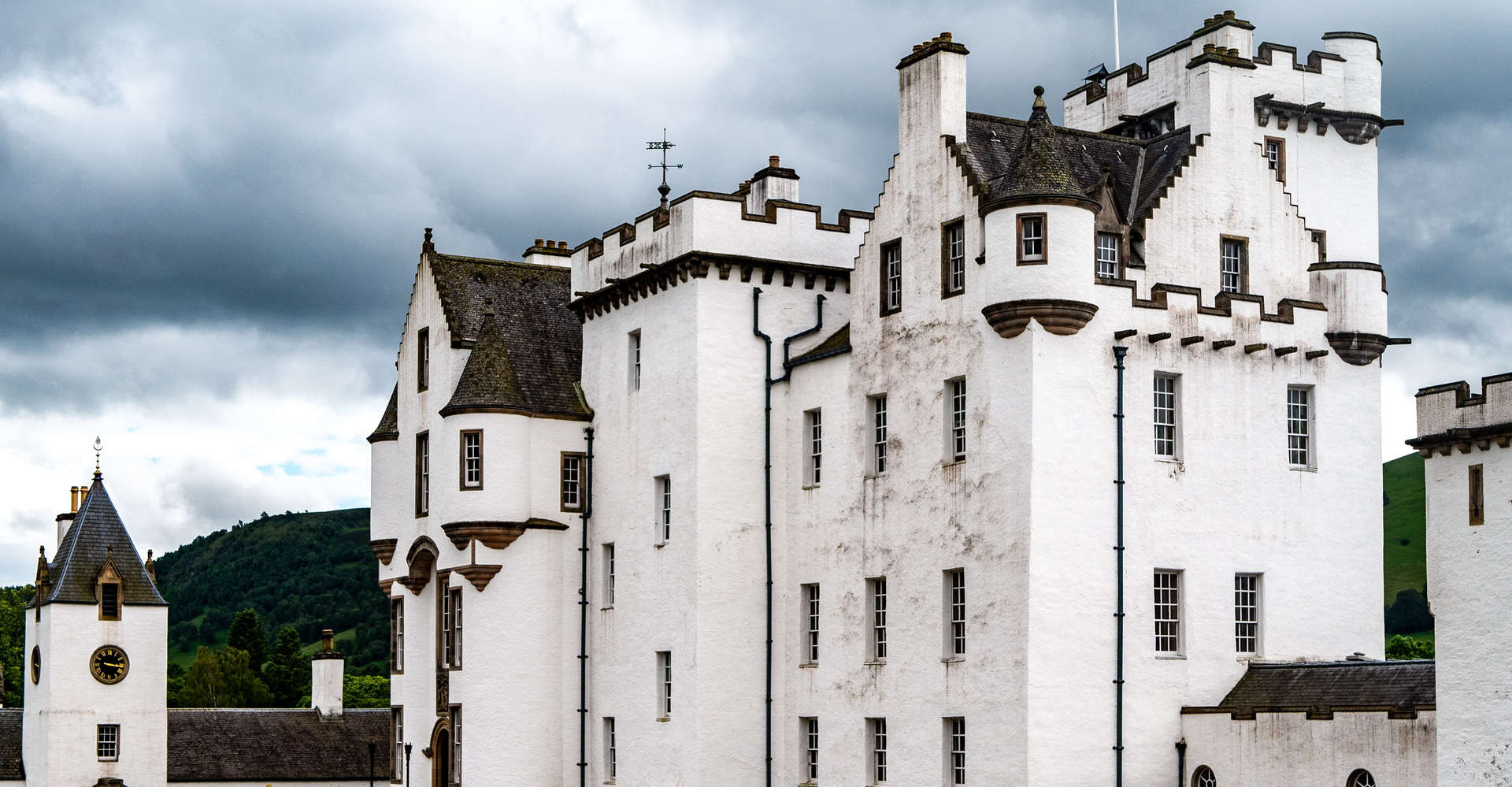 Blair Castle, Perthshire scotland seen on a luxury private tour