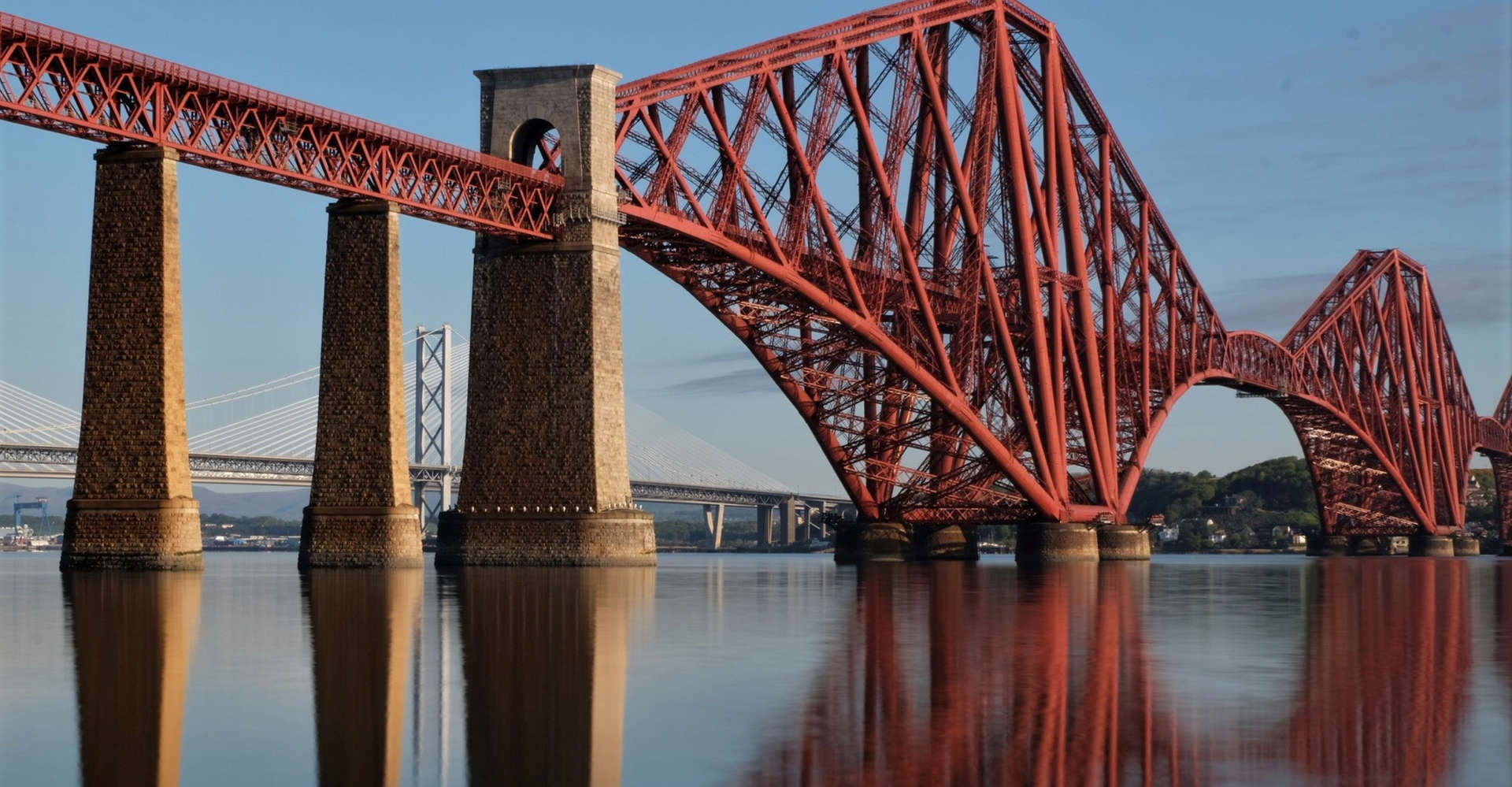 forth bridge n scotland seen from south queensferry on luxury private tour