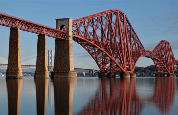 forth bridge seen from south queensferry on luxury private tour