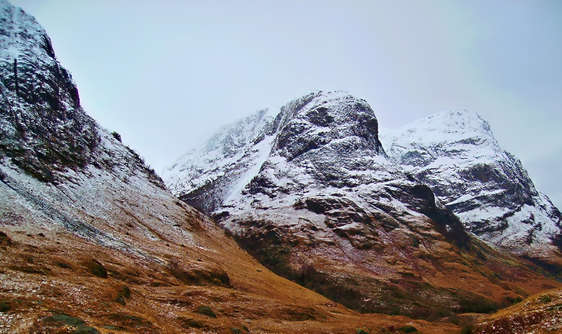 Three Sisters of Glencoe scotland seen on a private tour with scotlux