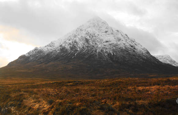 buachille etive more in glencoe with snow on top