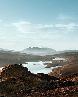 view of the black cuillin mountains isle