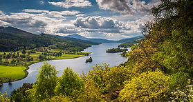 queens view over loch tummel and shiehallion in scotland seen on private tour