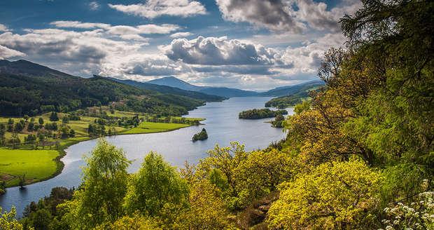 Queen's View, Loch Tummel & Shiehallion in scotland