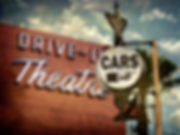 aged and worn vintage photo of neon driv