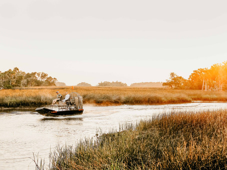 Airboat Engagement Session in Florida   Ashley + Josh