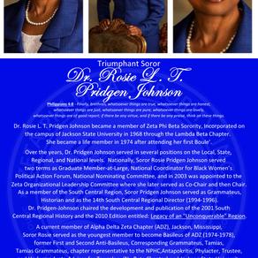 Triumphant Soror Dr. Rosie L.T. Pridgen Johnson