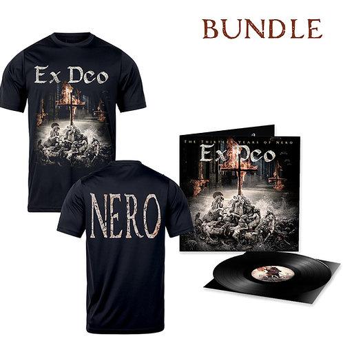 """EX DEO *NEW ALBUM*  """"The Thirteen Years of Nero"""" T-Shirt+Vinyl Bundle"""