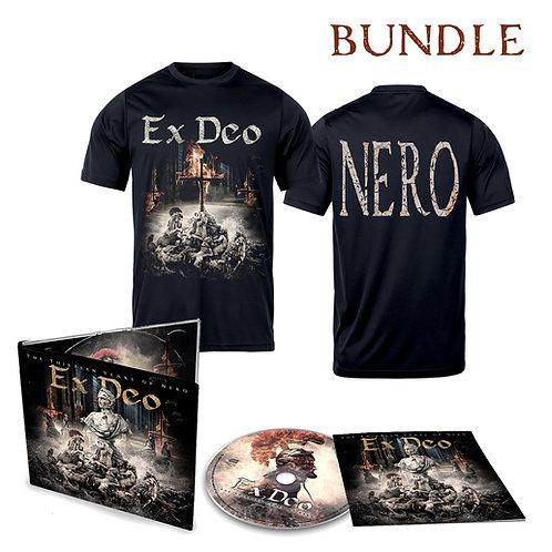"""EX DEO *NEW ALBUM*  """"The Thirteen Years of Nero"""" T-Shirt+CD Bundle"""