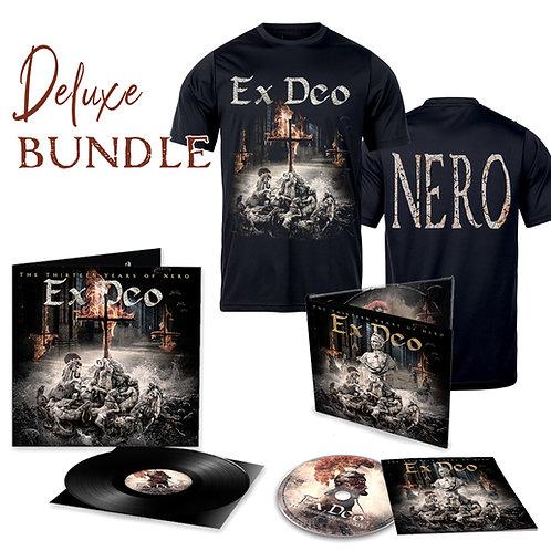 """EX DEO *NEW ALBUM*  """"The Thirteen Years of Nero"""" T-Shirt+CD+Vinyl DELUXE Bundle"""