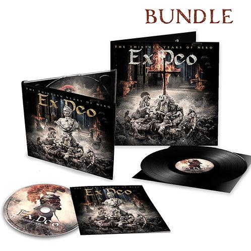 """EX DEO *NEW ALBUM* """"The Thirteen Years of Nero"""" Digipak CD+Gatefold Vinyl Bundle"""