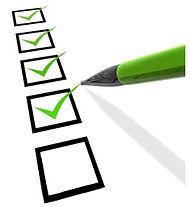 Checklist die afgepunt wordt