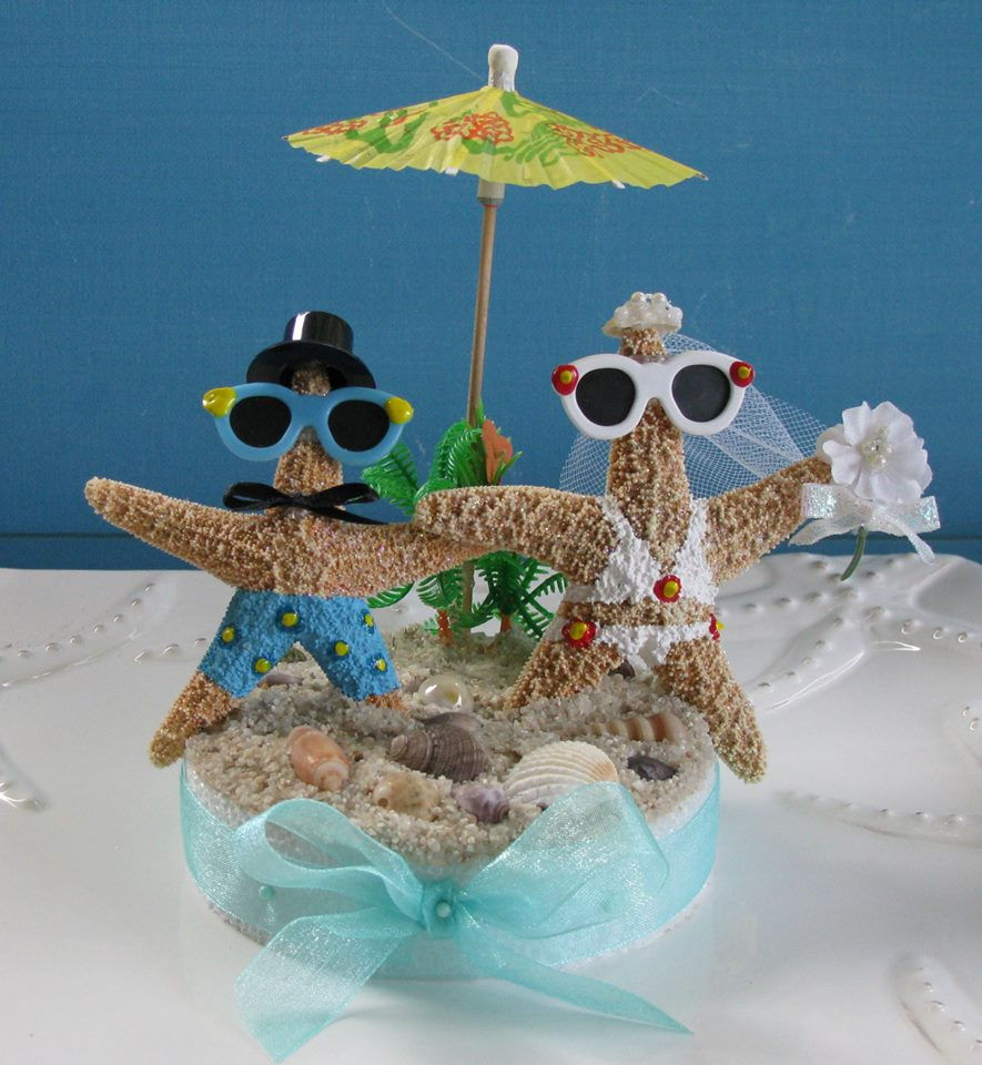 beach wedding cake toppers by ceshore treasures. Black Bedroom Furniture Sets. Home Design Ideas