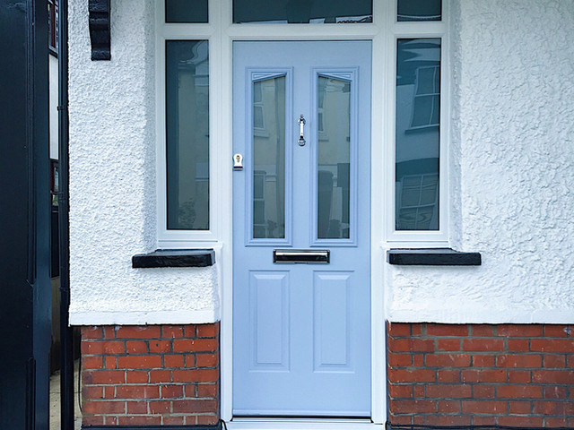 Replacement composite front door