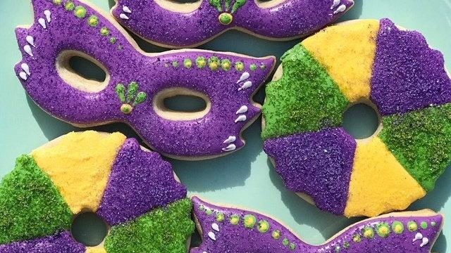 Mardi Gras cookie