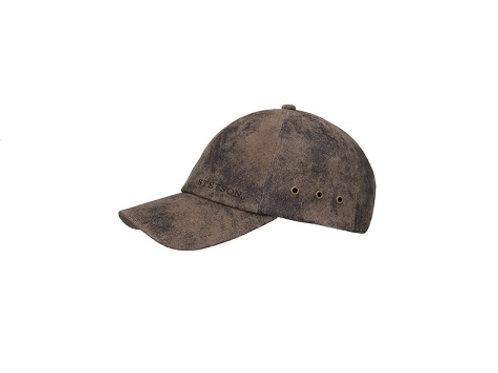 Stetson Brown Pigskin Baseball Cap