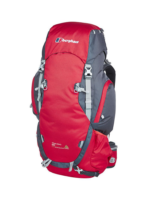 BERGHAUS RED/GREY TRAILHEAD 65 RUCKSACK